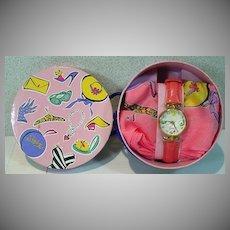 Barbie 35th Anniversary Fossil Watch & Scarf Set, NRFB, 1993