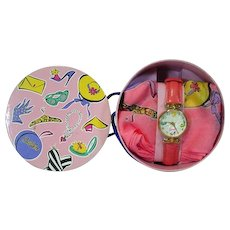 Barbie 35th Anniversary Fossil Watch & Scarf Set, NRFB, 1993