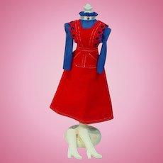 VIntage Mattel Barbie Outfit, O-Boy Corduroy, 1972