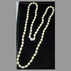Beautiful Monet Faux Pearl and Rhinestone Necklace, 1980's