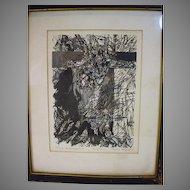 Original Signed Pen and Ink Drawing, Victim Metamorphosis by Lynda Kalman, 1967