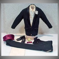 Vintage Mattel Ken Tuxedo Outfit, Complete, 1961