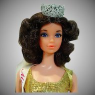 Mattel Walk Lively Quick Curl Miss America Doll, 1972
