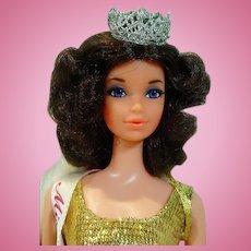 Mattel Walk Lively Quick Curl Miss America Doll, 1972