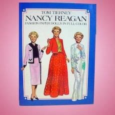Nancy Reagan Paper Dolls, 1983, Tom Tierney, Un-Cut