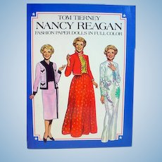 Nancy Reagan Paper Dolls, 1983, Tom Tierney, Un-Cut