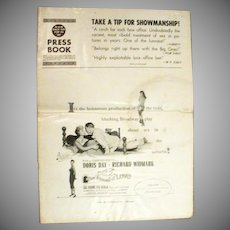 Original Press Book, Doris Day Film, The Tunnel of Love, 1958