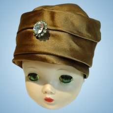 Vintage Madame Alexander Cissy Size Satin Turban, 1950's