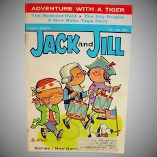 Vintage Jack and Jill Childrens Magazine, July 1964 w/Barbie Ad