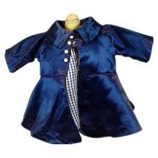 Vintage 1950's Silk Satin Doll Dress with Coat