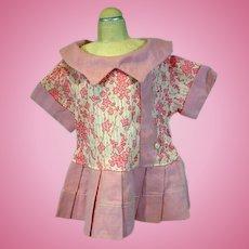 Charming 1930's Linen Doll Dress