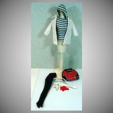 VIntage Mattel Barbie Outfit, Winter Holiday, 1960