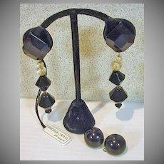 Angela Caputi Drop Earrings, 1990's