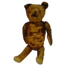 Antique Straw Stuffed Teddy Bear, Well Loved!