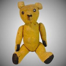 Charming Vintage Straw Stuffed Teddy Bear