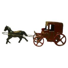 Vintage Tin Horse and Buggy Toy, 1930's