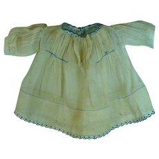 Vintage Cotton Voile Doll Dress, Harriet McGee Label, 1930's