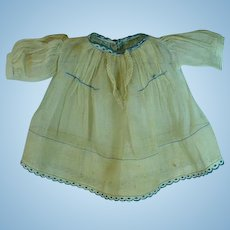 Vintage Cotton Voile Doll Dress, Harriet McGee Label, 1930's