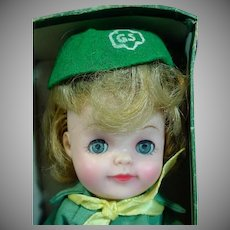 "Effanbee Official Junior Girl Scout 9"" Doll, 1965"