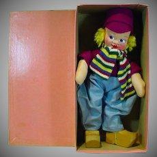 Mint in the Original Box, Cloth Mollye Dutch Boy Doll, 1940's