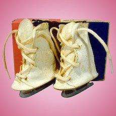 MIB Vintage Doll Ice Skates, 1950's