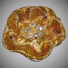 Lovely Goldtone Monet Ladies Brooch, 1980's
