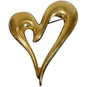 Vintage 1990's Monet Abstract Heart Brooch