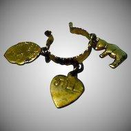 Vintage Vogue Jill Metal Charm Bracelet, 1958!