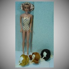 Vintage Mattel 1963 Fashion Queen Barbie Doll, Complete!