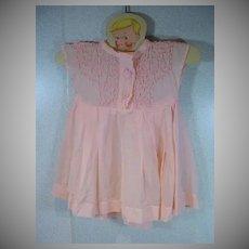 VIntage 1950's Pink Cotton Voile Doll Dress
