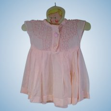 VIntage 1950's Pink Cotton Voile Doll Dress