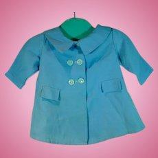 VIntage 1950's Light Blue Spring Doll Coat