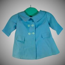 VIntage 1950's Light Blue Spring Doll Coat