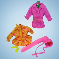 Vintage Mattel Skipper OUtfit, Chilly Chums, 1969, Complete!