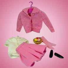Vintage Mattel Skipper Outfit, School Days, 1964, Complete