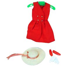 Vintage Skipper Outfit, Red Sensation, 1964, Complete