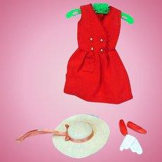 Vintage Skipper Outfit, Red Sensation, 1964, Complete
