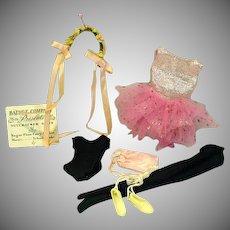 Vintage Mattel Skipper Outfit, Ballet Class, 1964, Complete