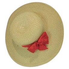 Vintage Madame Alexander Elise Spring Hat, 1950's, Mint!
