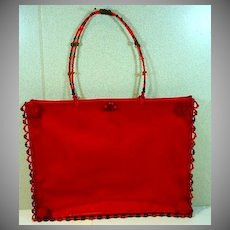 Vintage 1990's Chista New York Ladies Purse, Red