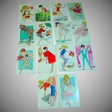 Lot of 14 Original Barbie Trading Cards, 1962, Mattel,Dynamic Toy Inc