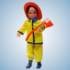Mattel European Todd in Father's Little Helper Outfit, 1970's
