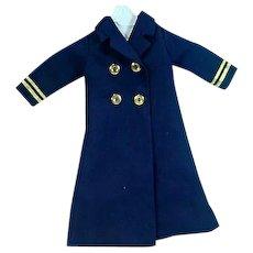 Vintage 1960's Madame Alexander Elise Navy Maxi Coat
