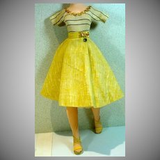 Vintage Madame Alexander Cissy Size Knit Top and Skirt Set, 1950's