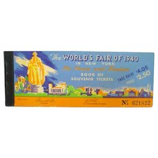 Original 1940 New York World's Fair Book of Souvenir Tickets