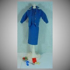 Vintage Mattel Barbie Outfit, Knitting Pretty, 1963
