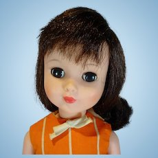 Madame Alexander  17 Inch Polly Doll in Original Orange Party Dress, 1965