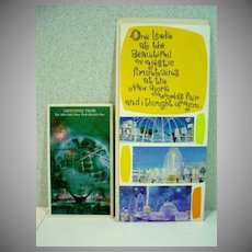 Two Vintage 1964 New York World's Fair Greeting Cards Un-Used