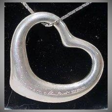 Tiffany & Co. Elsa Peretti Sterling Silver Open Heart Pendant, 27mm