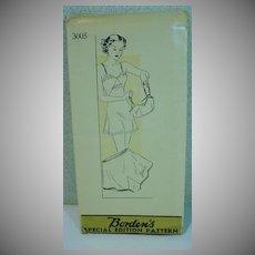 "Vintage 1940's Lingerie Pattern, ""Borden's"""